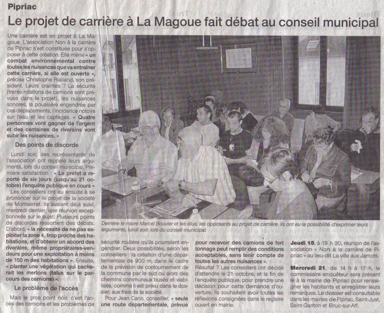 Ouest France - 14/10/2009